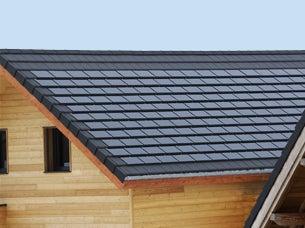 Solar clay tiles