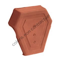 Ridge end cap, socketed Slate