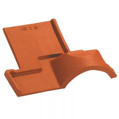 Eave stop end tile OMEGA 10 (4 per m)Natural Red