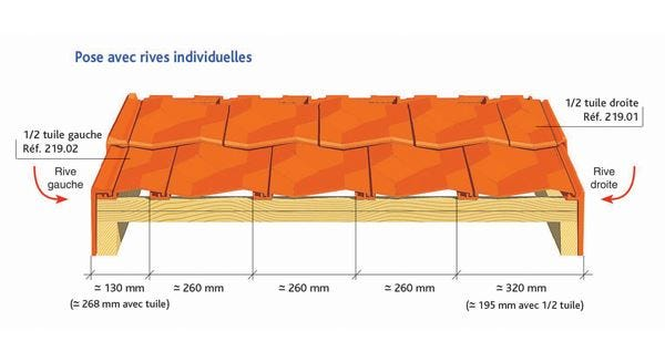 Clay tile DIAMANT of EDILIANS : Cloaked Verges