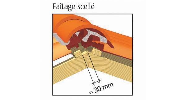 Clay tile PLEIND SUD Gélis of EDILIANS : Laced ridge